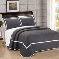 Chic Home Halrowe Reversible King Quilt Set in Grey