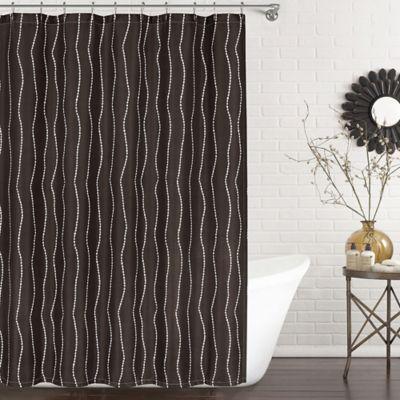 Ron Chereskin Pearls Shower Curtain In Chocolate