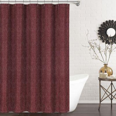 Ron Chereskin Dots Shower Curtain In Burgundy