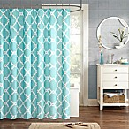Madison Park Essentials Merritt 72-Inch x 84-Inch Shower Curtain in Aqua