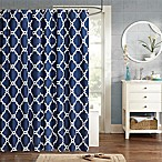 Madison Park Essentials Merritt 72-Inch x 84-Inch Shower Curtain in Navy