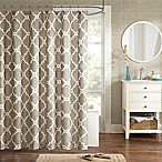 Madison Park Essentials Merritt 72-Inch x 96-Inch Shower Curtain in Taupe