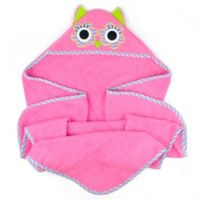 Design Imports Kids Collection Hooded Owl Towel in Pink