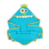 Design Imports Kids Collection Hooded Monster Towel in Blue