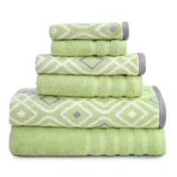 Pacific Coast Textiles Oxford Bath Towels in Sage (Set of 6)