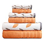 Pacific Coast Textiles 6-Piece Organic Vines Towel Set in Coral