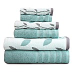 Pacific Coast Textiles 6-Piece Organic Vines Towel Set in Aqua