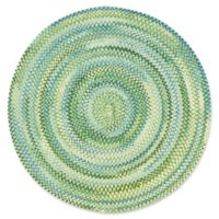 Capel Rugs Waterway 8-Foot 6-Inch Round Area Rug in Yellow