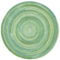 Capel Rugs Waterway 9-Foot 6-Inch Round Area Rug in Green