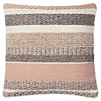 Magnolia Home by Joanna Gaines Delphine 22-Inch Square Throw Pillow in Blush