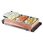 Nostalgia™ Electrics 1.5 qt. 3-Station Buffet Server & Warming Tray in Copper