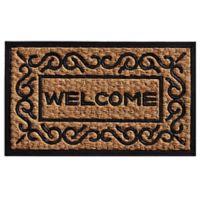 Home & More Carbella 18-Inch x 30-Inch Door Mat in Natural/Black