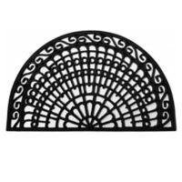 Home & More Grand Bay 24-Inch x 36-Inch Rubber Door Mat in Black