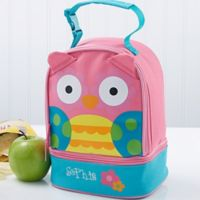 Stephen Joseph® Embroidered Owl Lunch Bag in Red