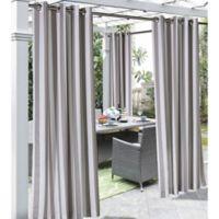 Coastal Stripe 96-Inch Indoor/Outdoor Window Curtain Panel in Taupe