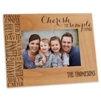 Cherish The Simple Things 4-Inch x 6-Inch Picture Frame