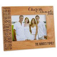 Cherish The Simple Things 5-Inch x 7-Inch Picture Frame
