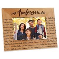 Cozy Home Repeating Name 4-Inch x 6-Inch Picture Frame