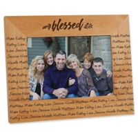 Cozy Home Repeating Name 5-Inch x 7-Inch Picture Frame