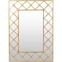 Surya Letzia 55-Inch x 40-Inch Wall Mirror in Gold