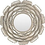 Surya Luisa 32-Inch Round Wall Mirror in champagne