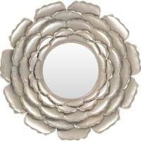 Surya Luisa 32-Inch Round Wall Mirror in champagne