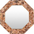 Surya Kamala 21.7-Inch Wall Mirror in Brown