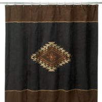 Avanti Mojave 72 Inch X Fabric Shower Curtain In Black Brown