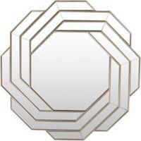 Surya Aylmer 39.37-Inch Round Wall Mirror in Silver