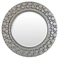 Surya Sargis 36-Inch Round Wall Mirror in Silver