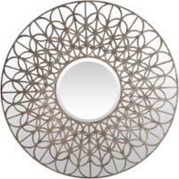 Surya Benthey 39-Inch Round Wall Mirror in Silver