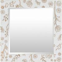 Surya Unala 31-Inch x 31-Inch Wall Mirror in White