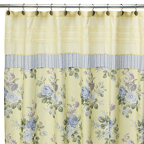 Laura Ashley Caroline 72 Quot X 72 Quot Fabric Shower Curtain