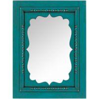 Surya Mirella 30-Inch x 40-Inch Wall Mirror in Teal