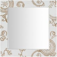 Surya Onr 31-Inch x 31-Inch Wall Mirror in White