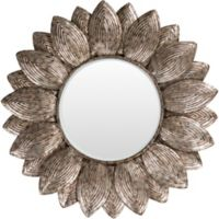 Surya Casimir 36-Inch Round Wall Mirror in Champagne
