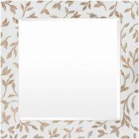 Surya Agez 31-Inch x 31-Inch Wall Mirror in White