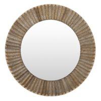 Surya Savill 28-Inch Round Wall Mirror in Bronze