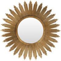 Surya Harleston 47-inch Round Wall Mirror in Gold