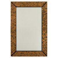 Surya Tyrell 24-Inch x 36-Inch Rectangular Wall Mirror in Copper