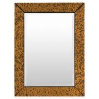 Surya Tyrell 30-Inch x 40-Inch Rectangular Wall Mirror in Copper