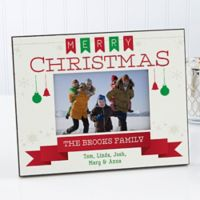 Holiday Banner 4-Inch x 6-Inch Picture Frame