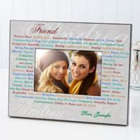 What Girlfriends Mean 4-Inch x 6-Inch Picture Frame