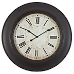 Décor Therapy Roman Wood Grain Clock in Bronze