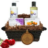 Pure Energy Apothecary Daily Delight Pure Aromatherapy Split Letter Pineapple Gift Basket
