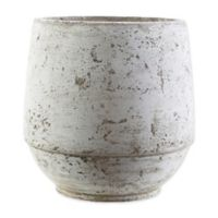 Rome Medium Rustic Vase in Brown/White