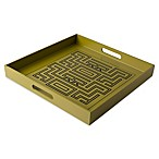 Global Decorative Tray in Green/Black