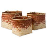 Forrestburg Olero Decorative Basket Set in Tan/White