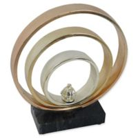 Moe's Home Collection Bands II Sculpture in Gold
