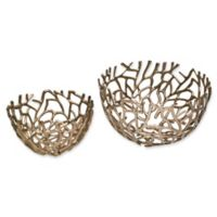 Moe's Home Collection Nest 2-Piece Bowl Set in Silver